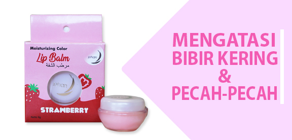Banner Lip Balm Rasa Strawberry
